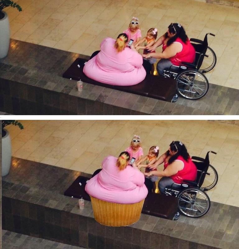 fat woman cupcake meme