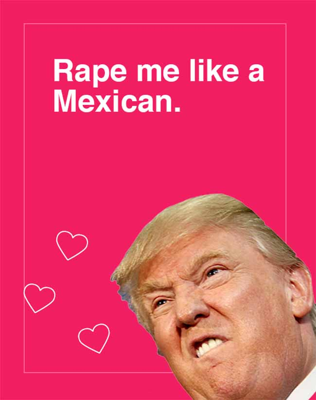 Trump Valentines Day Cards The Tasteless Gentlemen