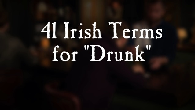41 Irish terms for drunk